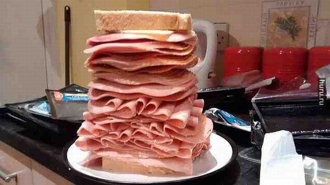 Бутерброд с колбасой прикольные картинки