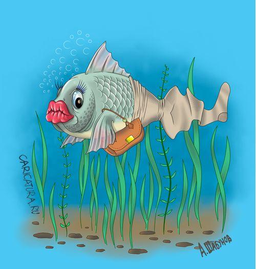Рисунки прикольные рыбы