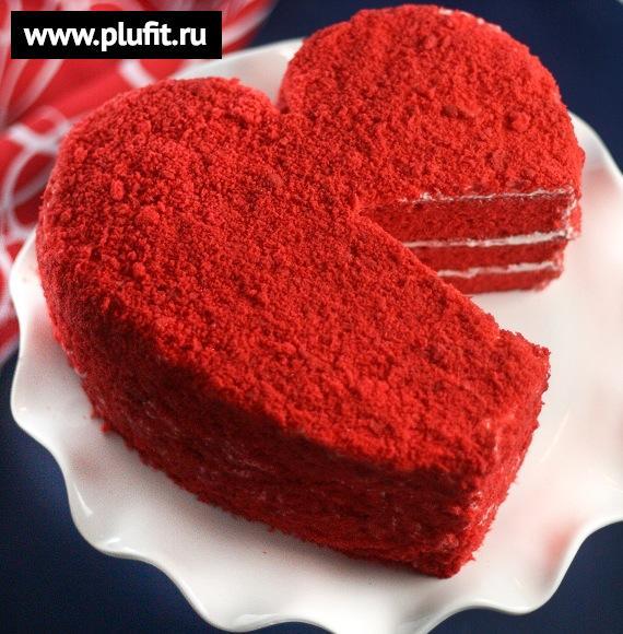 торты в форме сердца рецепты с фото