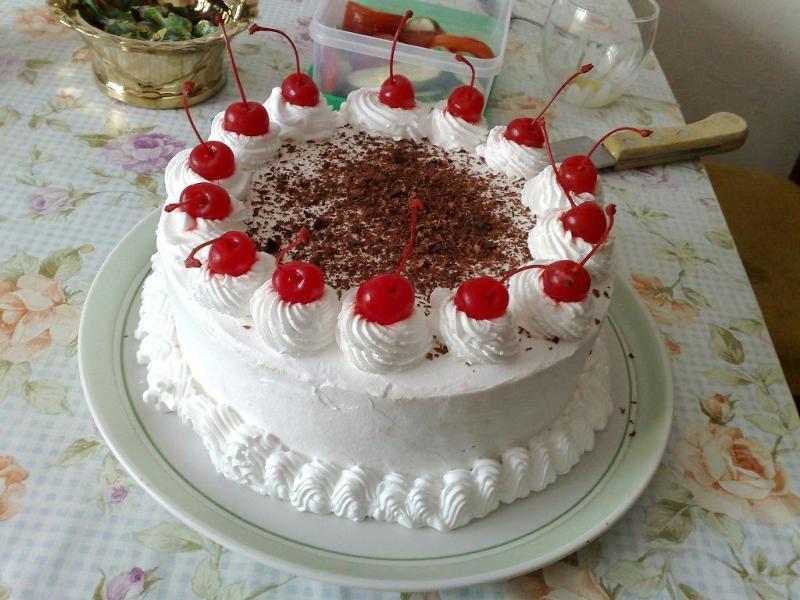Как украсить торт сливками фото