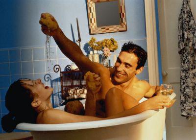 Купание вдвоем в ванной #1