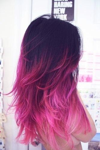 Голубые и розовые волосы