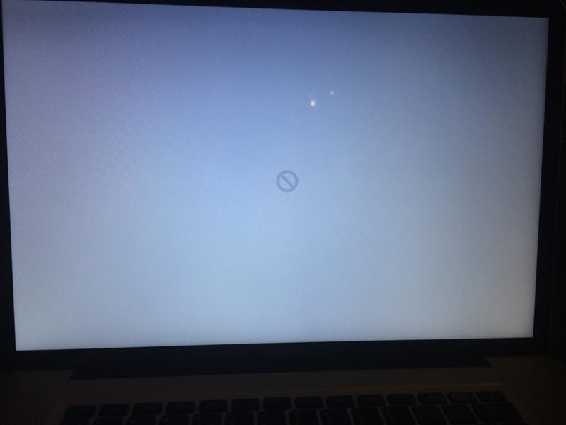 Macbook pro recovery disk locked