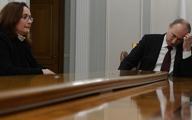 Игнорирование главы ЦБ в Кремле на встрече с Путиным