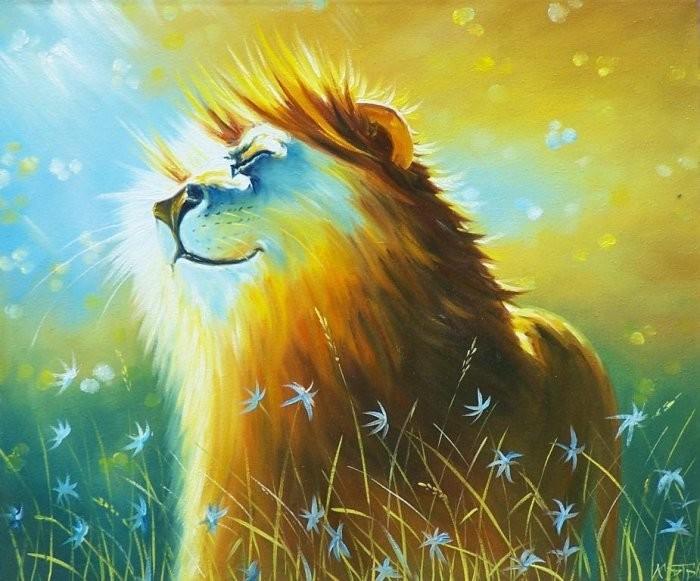 Открытки с львами, открытка поздравительная марта
