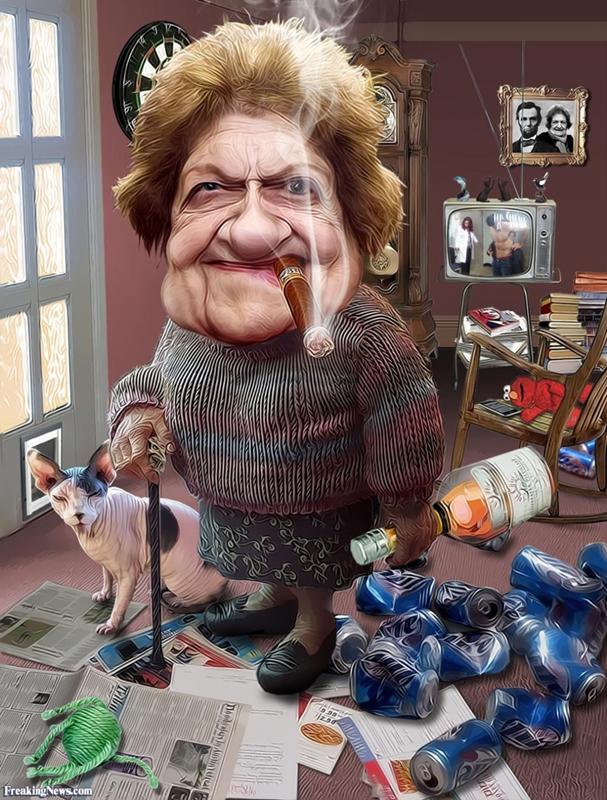 Марта, картинка смешные бабка