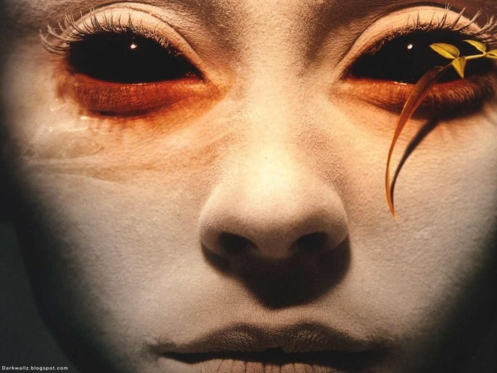Как сделать глаза черными фото 236