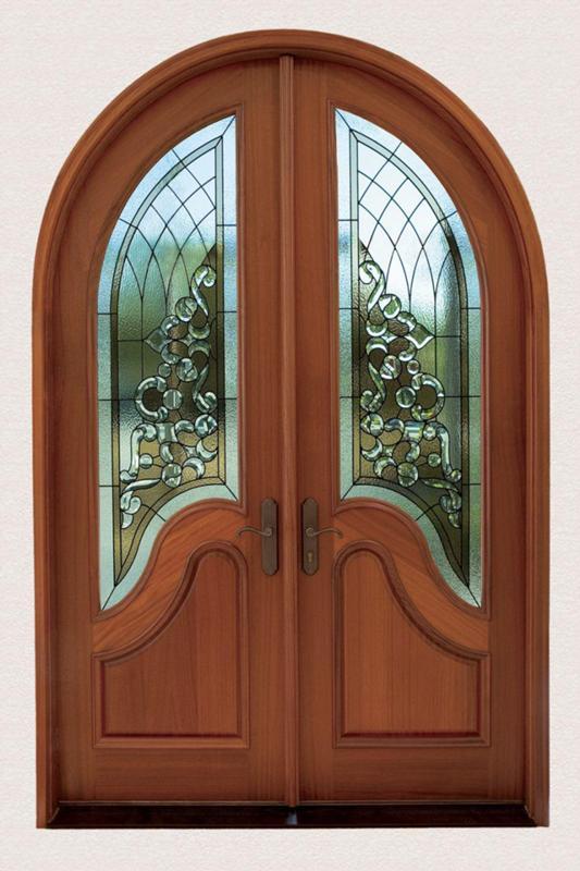 двери входные двухстворчатые арочные