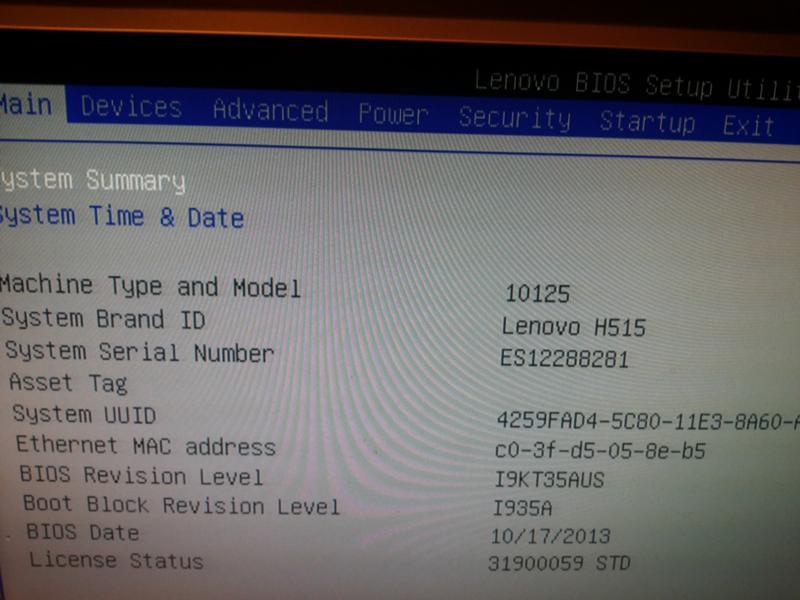 So aktualisieren Sie die Seriennummer im BIOS Lenovo G510