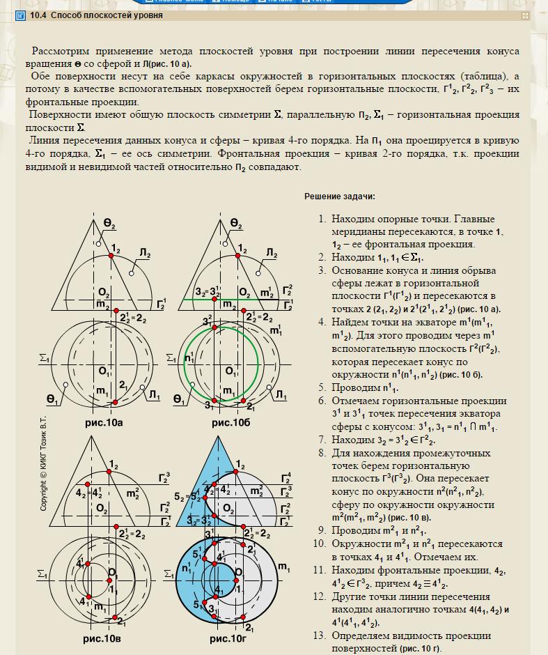 глаза глаза принцип построения точек пересечения линии с поверхностью вопроса