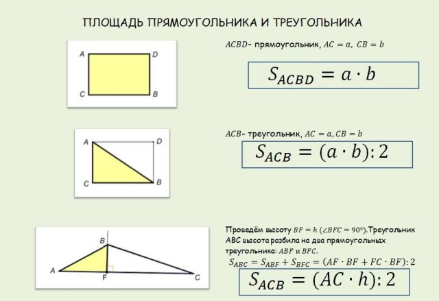 Найти гдз треугольника как площадь