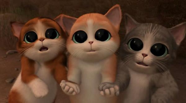 Мультики i кот в сапогах три чертенка