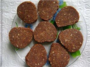 Шоколадная колбаса без орехов