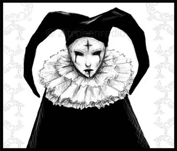 Девушка клоун арт