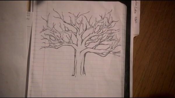 Как нарисовать дерево из волчонка