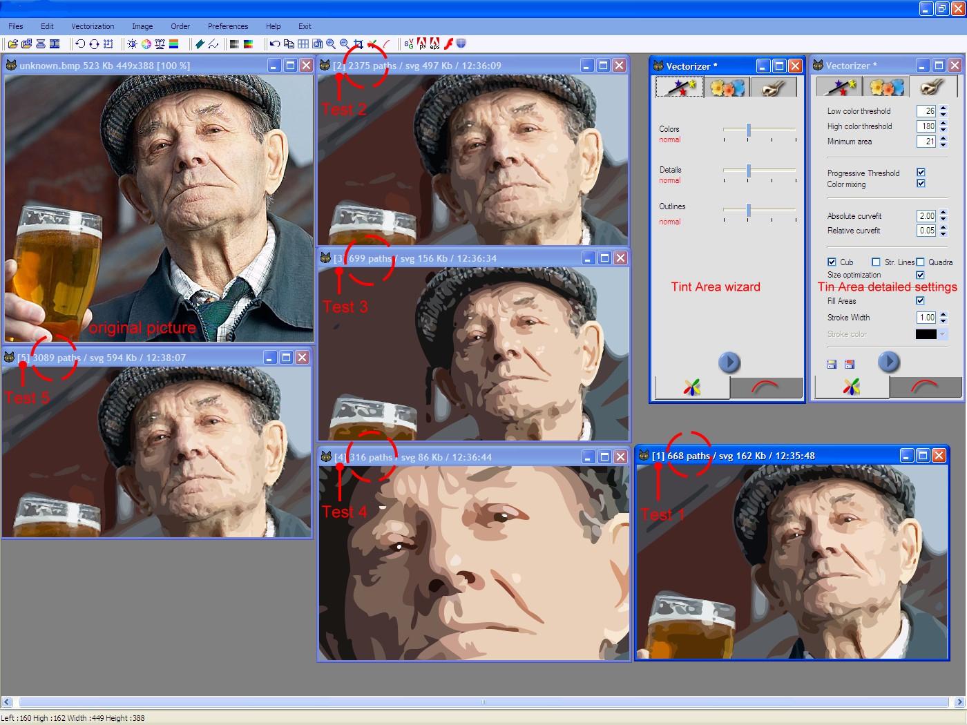 перевод растрового изображения в векторное в coreldraw