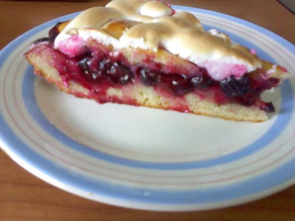 рецепт пирога с вишней и безе