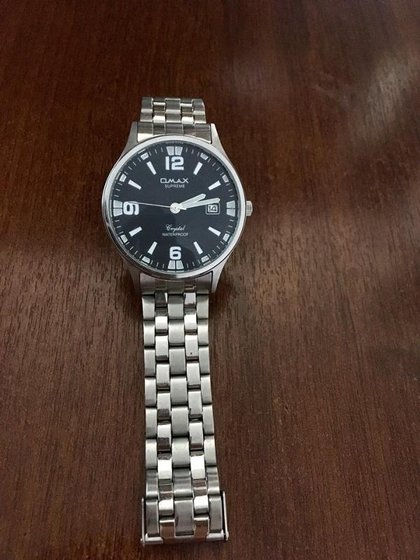 Stainless steel case back часы omax