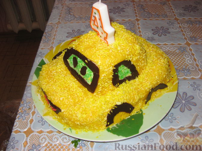 рецепты тортов с фото в виде машинки