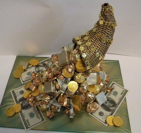 Оригинальный подарок своими руками: денежный топиарий