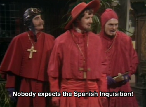 monty python vs church debate