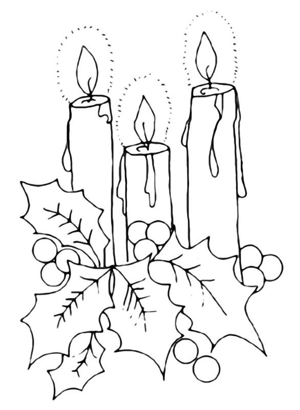 Празднику, рождественская открытка простым карандашом
