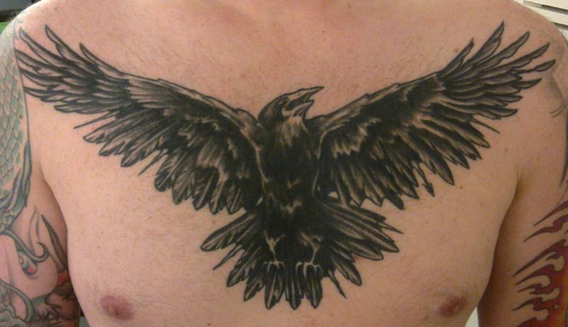 Тату ворона что значит