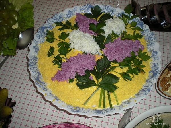 Салат цветок рецепт и фото