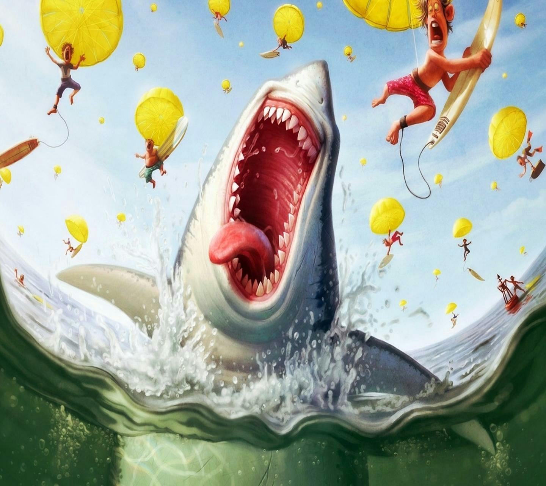 Картинки приколы про акул, летием мужчине