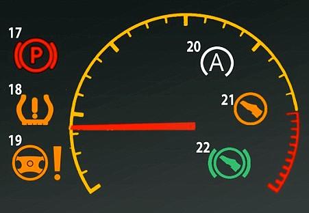 красный круг с восклицательным знаком на панели приборов
