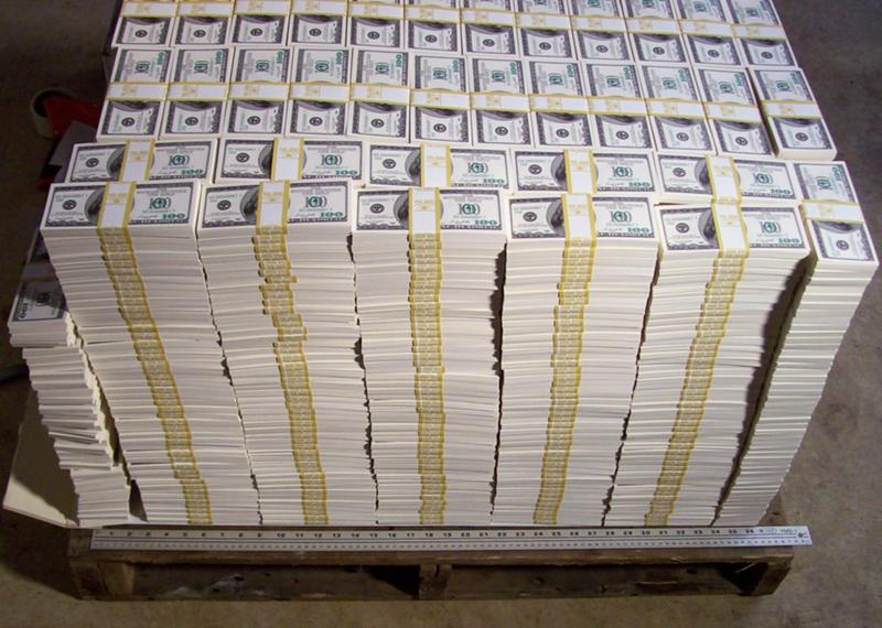 Well if we speak about 100 bills then look how much space 1 billion would take There are several billionaires who made their fortunes illegally and