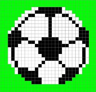 Схема фенечки с мячом
