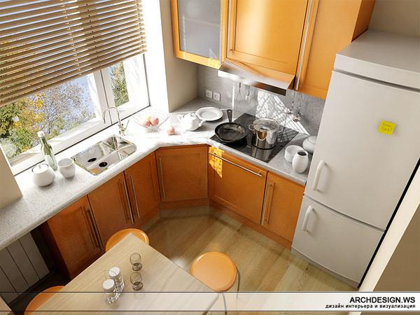 Фото дизайн кухни брежневки