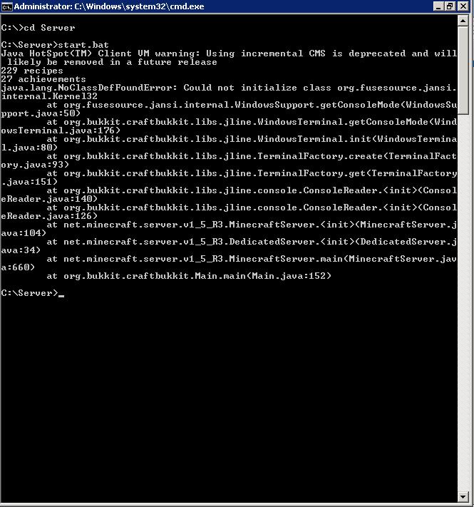 Почему не могу запустить сервер minecraft 1.5.2