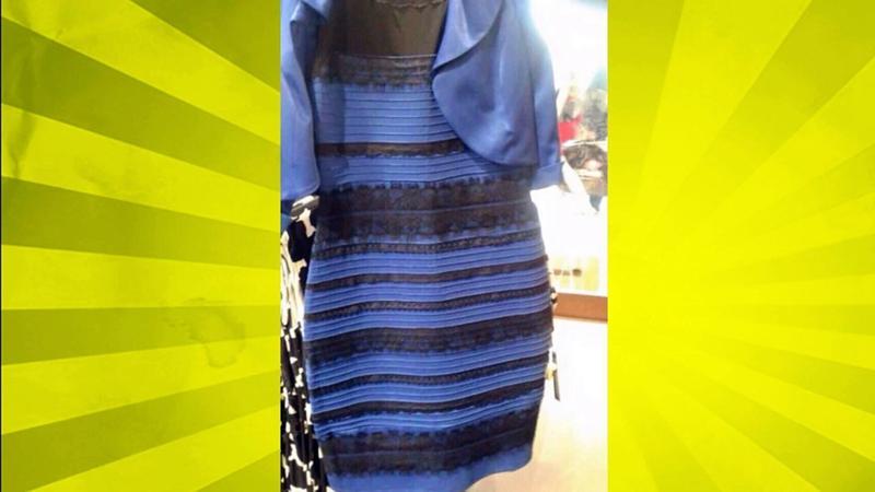 Платье меняет цвет сине черное бело золотое