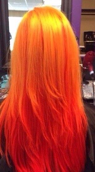 ярко рыжий цвет волос фото