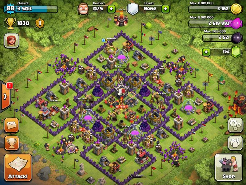 clash of clans расстановка th10