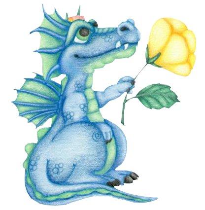 Открытки с днём рождения с драконами