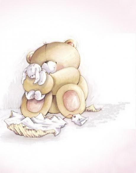Картинки мишка обнимает зайчика
