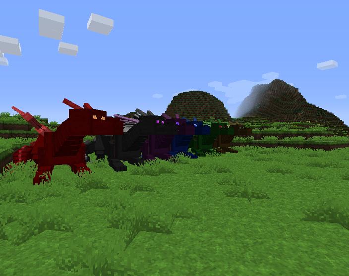 мод для майнкрафт 1.7.10 dragon mounts #2