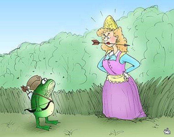 Принц и принцесса прикольные картинки, поцелуем
