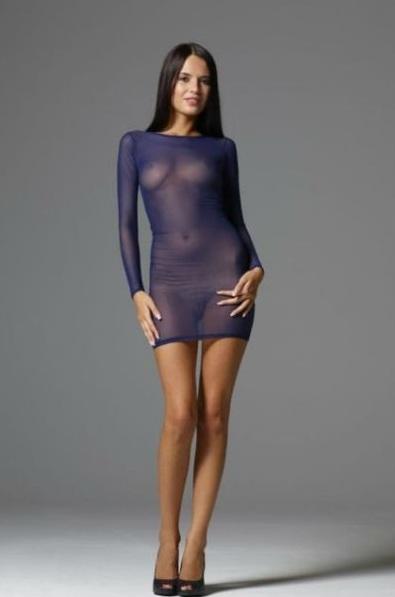 Прозрачное платье и трусики