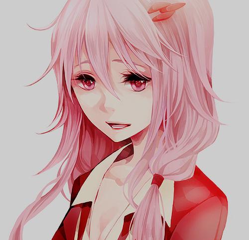 Аниме девочка с розовыми волосами