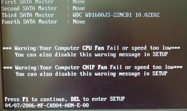 cpu fan error 1 press f1 to resume