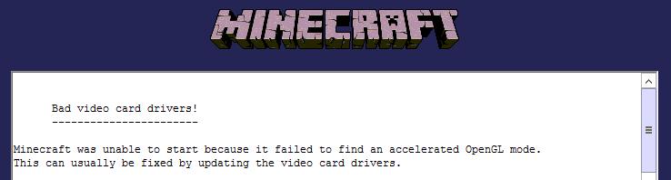 Драйвера на видеокарту для minecraft