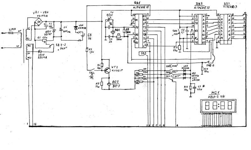 Цены, характеристики, отзывы на настольные часы электроника чэ 01 принципиальная схема.