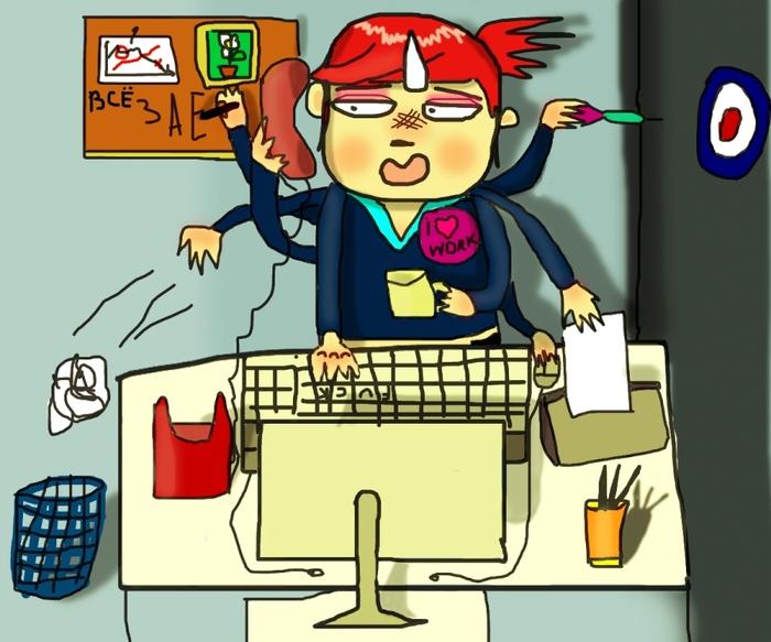 Праздничные детские, открытка правильно организованная работа позволяет одному человеку не работать