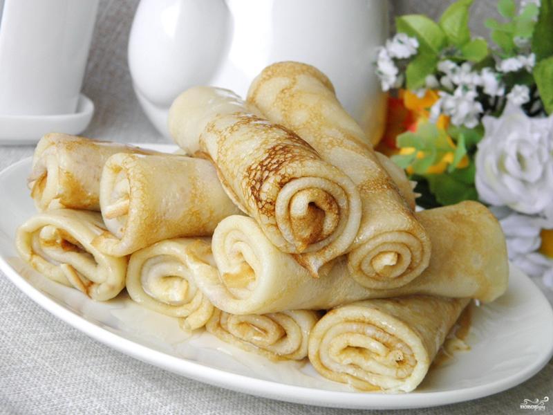 рецепты блинчиков с фото простые вкусные