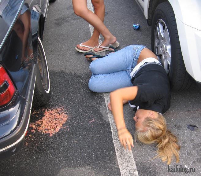 Сильно пьяная девушка — photo 3