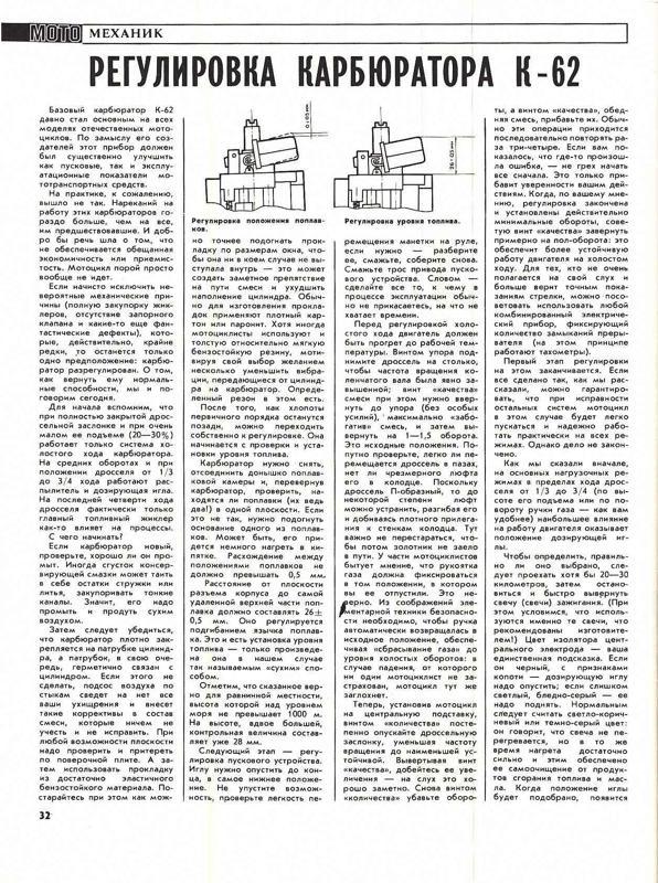 Регулируем карбюратор К62 - МОЙ МОТОЦИКЛ